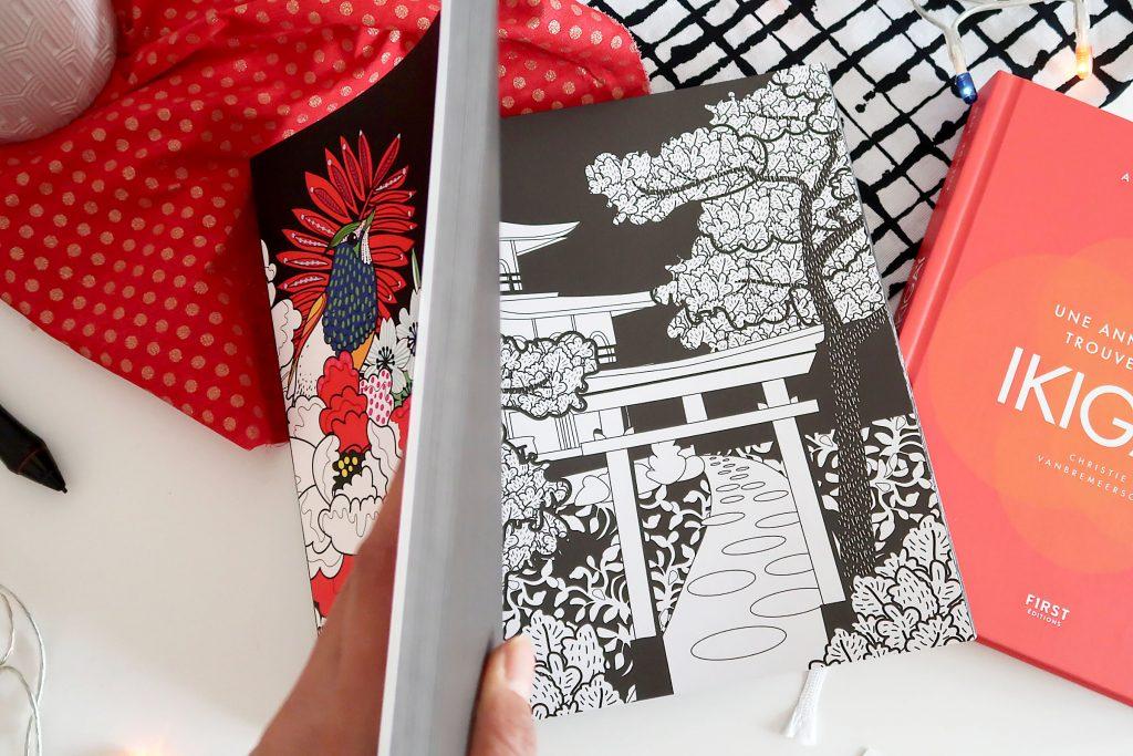 livre coloriage japon